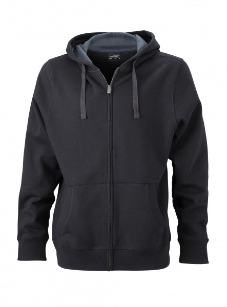 Men''s Hooded Jacket, Farbe: black/carbon