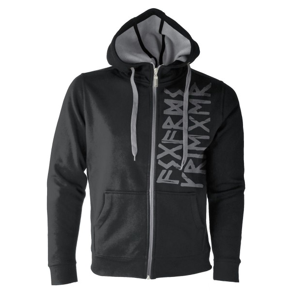 Asgards Krieger Viking Sign Doubleface Kapuzenjacke